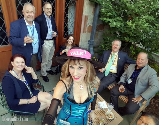 "With Fred & Kate Moryl (who now call each other ""my bonobo"") & friends. Photo: Selfie"