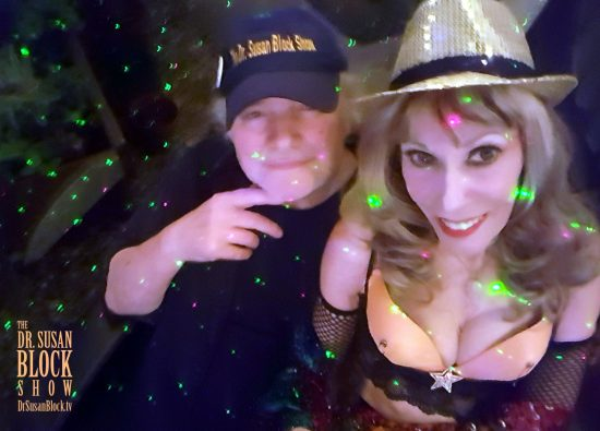 With Magical Max in the Garden of Bonoboville. Photo: Selfie