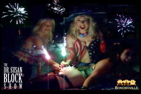 Orgasms for the Eye on the 4th of July & a Sparkler up the Butt for America's Birthday - now playing on DrSuzy.Tv!