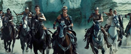 The Amazons of Themyscira ride again in Wonder Woman: the Movie.