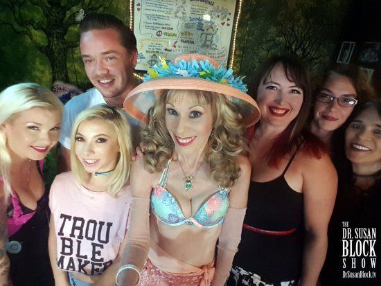 With Gypsy Bonobo, Kenzie Reeves, Kyle Mason, Heather Claus, Selene & Jacquie Bonobo. Photo: Selfie