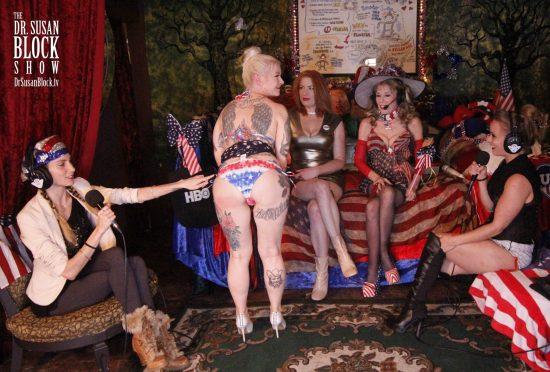Gypsy shows off her patriotic bikini butt. Photo: Clemmy