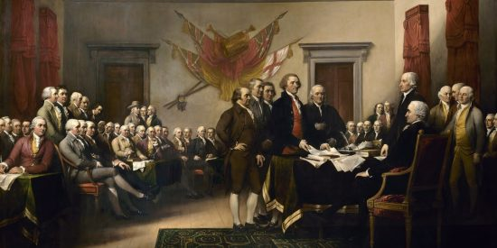 The Signing of the Declaration of Independence on July 2, 1776. Painting: John Trumbull