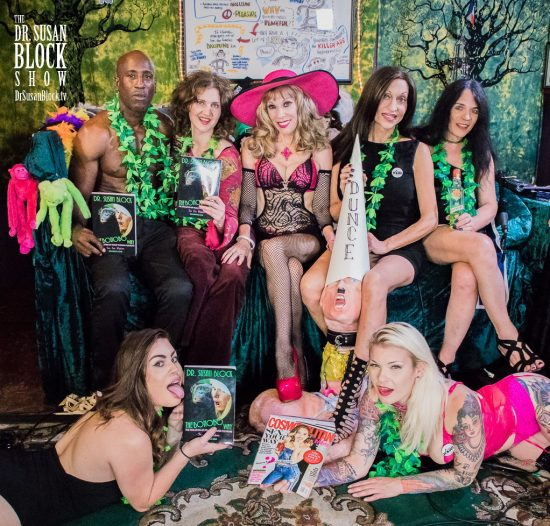 Ikkor, Susan Cooper, Dr. Suzy, Kourtney van Wales, Jacquie Blue. Bottom: Veronica Valentine, Adolf Trump, Gypsy Bonobo. This Photo & Above: Jux Lii