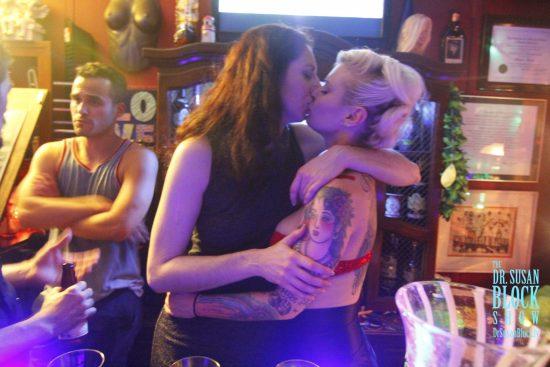 French Kiss at the Bonoboville Bar. Photo: Abe Bonobo