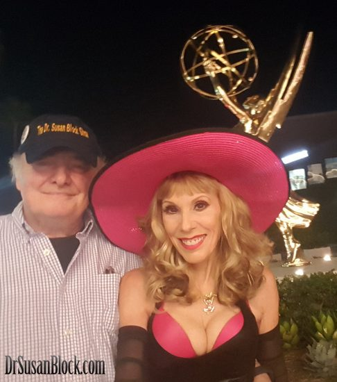 "With My ""Prime Mate"" and executive producer, Capt'n Max, at the Emmys party."