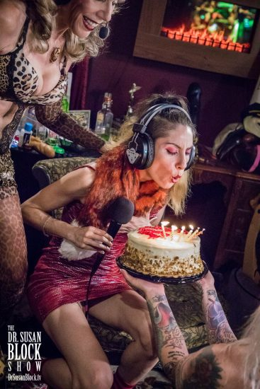Madame blows it out for her bday! Photo: Jux Lii
