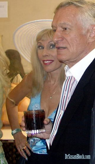 Dr. Suzy and Hef at the old Hollywood Erotic Museum in 2004. Photo: Mary Withers