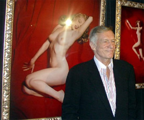Hef and Marilyn at the old Hollywood Erotic Museum.