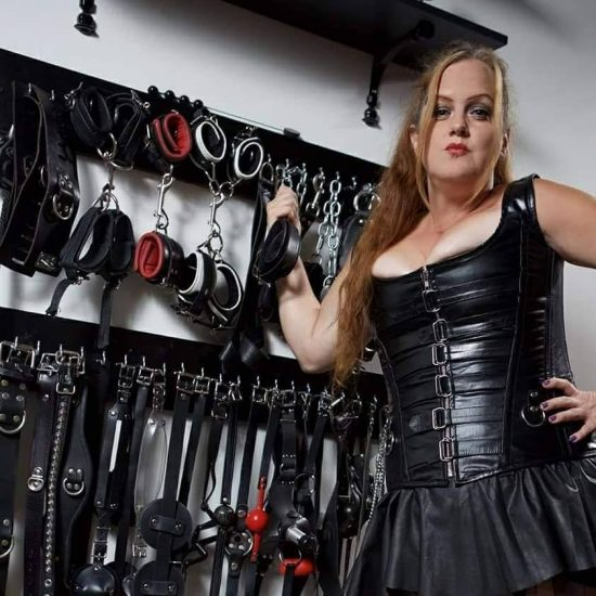 Mistress Jennifer and a few of her favorite toys..