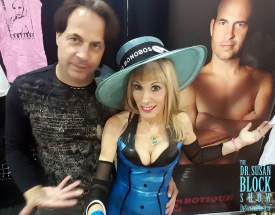 Surrounded by Eric Johns at Adultcon. Photo: Selfie