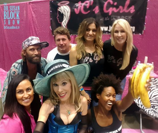 "With ""JC's Girls,"" the state of Christian Evangelism at Adultcon. Photo: Selfie"