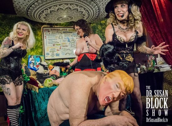In Bonoboville, Trump must submit to the Pussies. Photo: Jux Lii