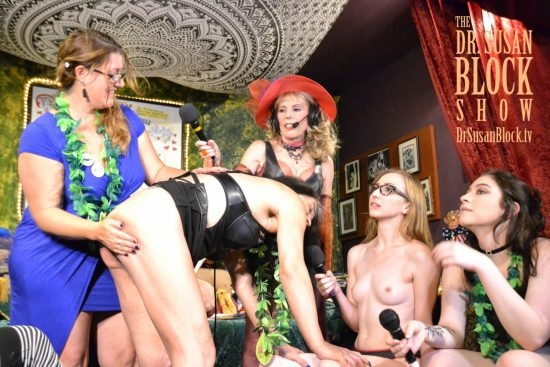 Dr. Laurie Bennett-Cook spanks in Kink Month 2017 on DrSuzy.Tv. Photo: Christine Dupree