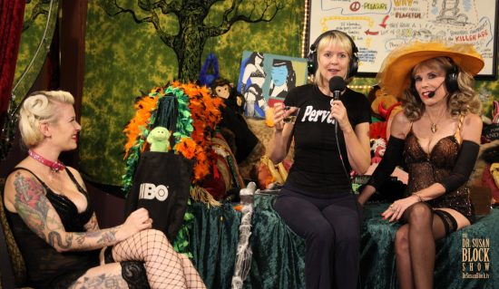 With Gypsy Bonobo and our featured guest, Cougar and Comedienne Sally Mullins. Photo:: A Singletary