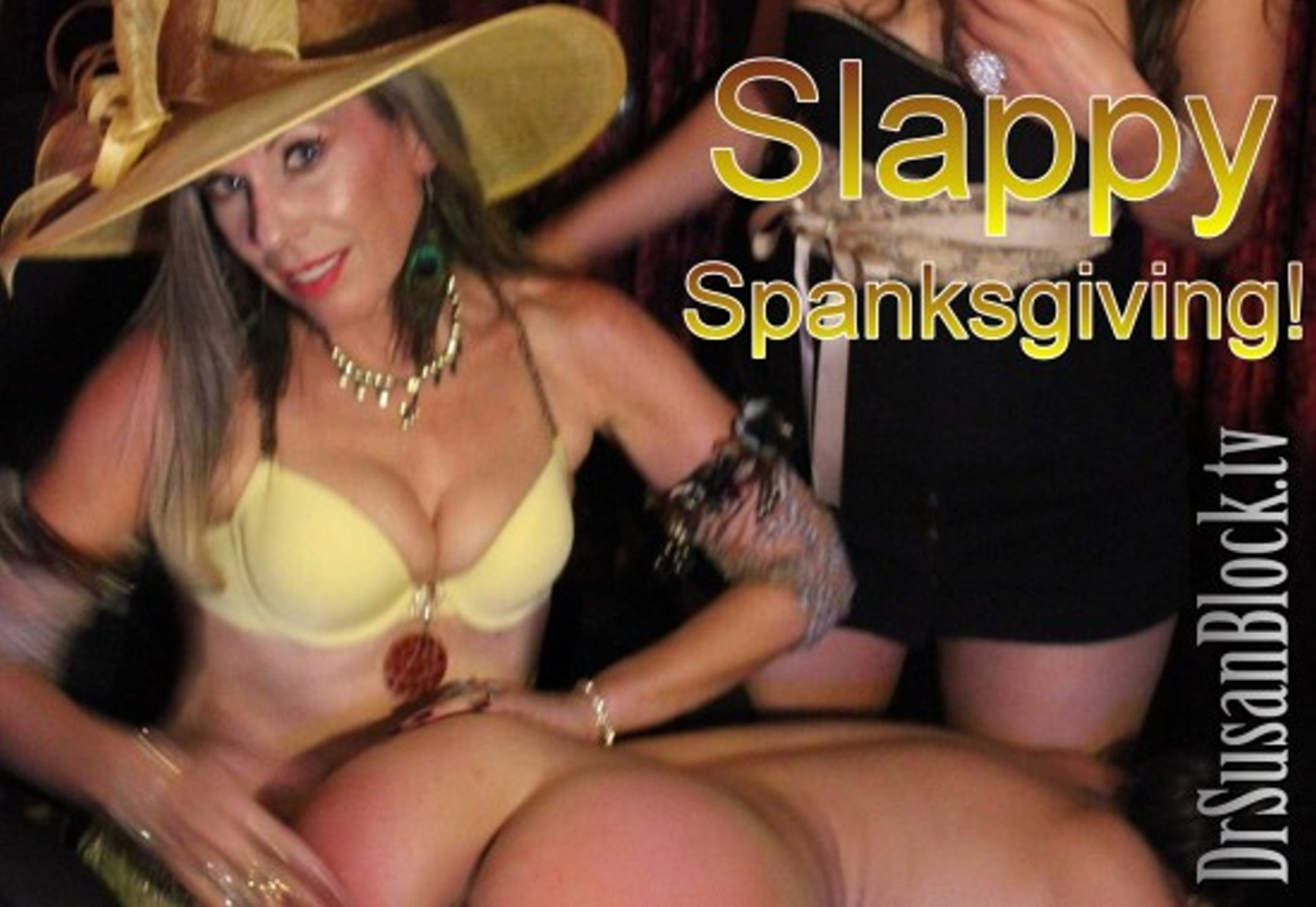 "Give Thanks, Then Get Spanked!  SPANKSGIVING, a traditional Bonoboville holiday on the Saturday after Thanksgiving.   After we get stuffed from both ends on Thursday, it's time for SPANKSgiving Saturday night  Thanksgiving  ""celebrates"" the genocide of Native Americans."