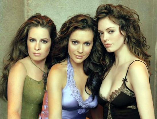 "Rose McGowan & Alyssa Milano (with Holly Marie Combs) : The ""Charmed"" Witches of The Reckoning in Sunnier Times"