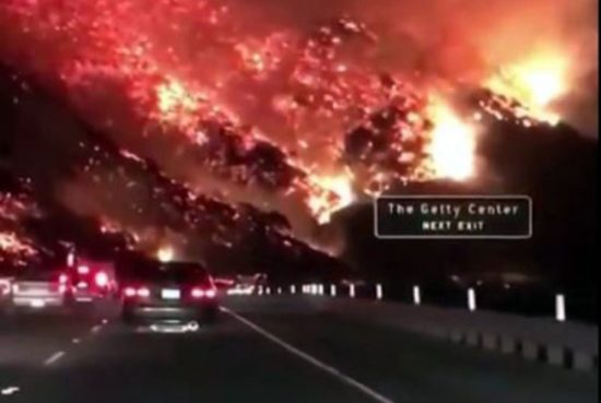 Fire up the 605 near the Getty