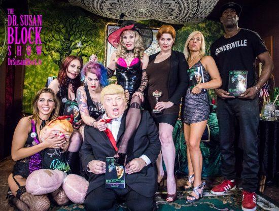 Phoenix Dawn, Miss Antoinette, Goddess Soma, Trump, Dr. Suzy, Mistress Tara, Brigitte, Ikkor. Photo: Jux Lii