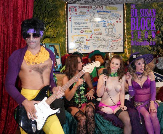 The Purple One in Bonoboville. Photo: DabbleNFocus