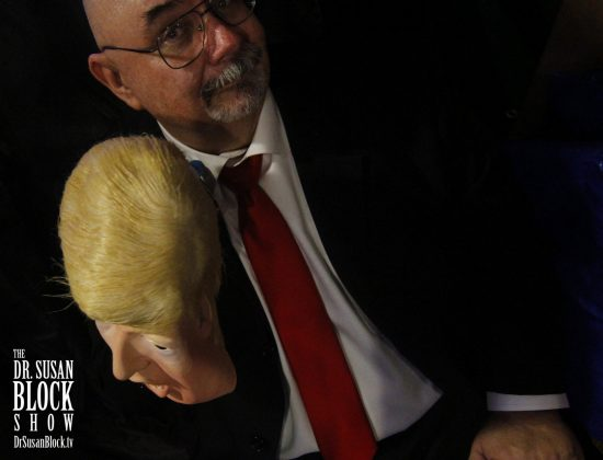 Trump unmasked. Hair Stylist: Jeffrey Vallance. Photo: Clemmy Cockatoo