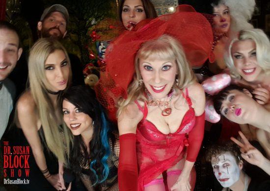 Pre-Show Selfie with Ian O'Brien, Mistress Mina, Jake Dill, Mia Amore, Phoenix Dawn, Queerella Fistalot, Mistress Bella Bathory, Siouxsie Q. James, Michael Vegas.