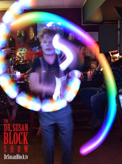 Awesome Poi Boy Michael Vegas wows the crowd. Photo: Gaby de Leon