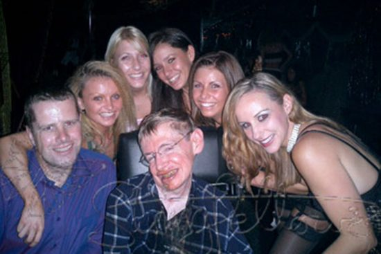 RIP Stephen Hawking. He love the physics of striptease.