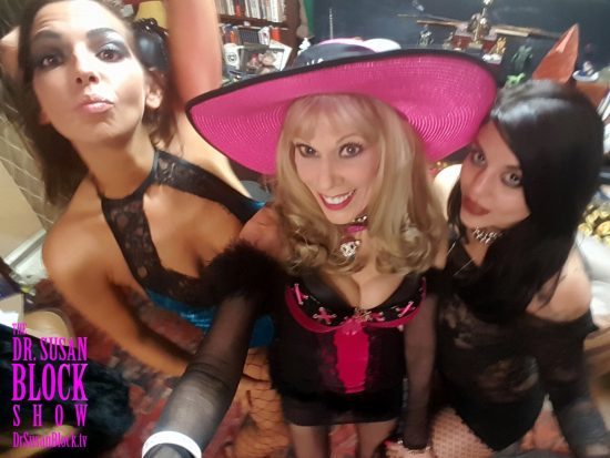 With Phoenix and Mia Amore, wearing our Adult Warehouse Outlet lingerie. Photo: Selfie