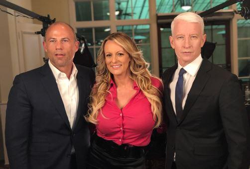 Michael Avenatti, Stormy Daniels, Anderson Cooper.