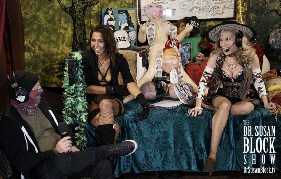 Interviewing Plastic Jesus with Phoenix Dawn on DrSuzy.Tv. Photo: Ryan B