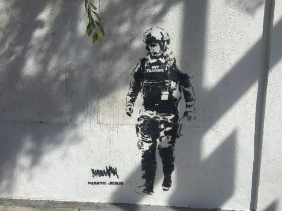 Future American Art Teacher. Street Art by Plastic Jesus