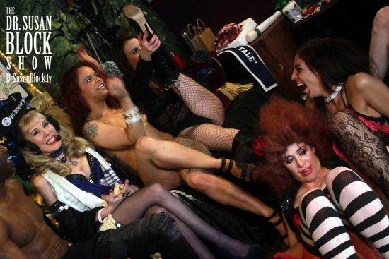 Mistress Katerina kicks up her healing heels as the rest of us go bonobos.  Photo: Heated Rush