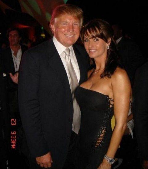 The Trumpus & Playmate Karen McDougal in sunnier times.