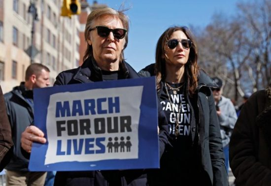 Paul McCartney at the March for Our Lives in New York