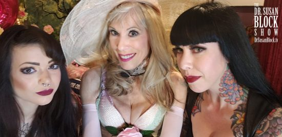 Two of Southern California's most striking FemDoms: Goddess Lillith & Mistress Porcelain Midnight, Headmistress of Midnight Manor in San Diego. Photo: Selfie