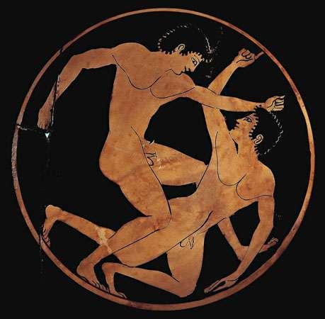 Ancient Greek Nude Wrestlers.