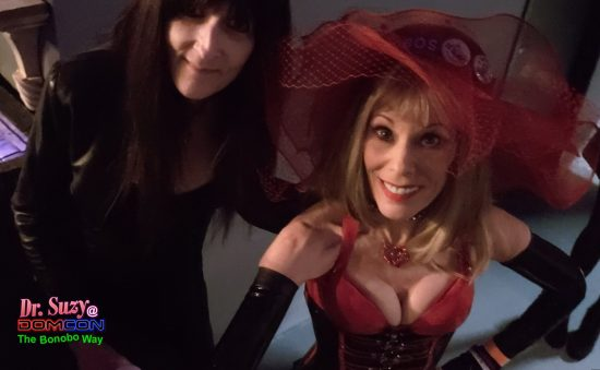 With DomCon Founder & Director Mistress Cyan St. James. Photo: Selfie