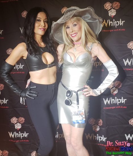 With exquisite Mistress Damiana Chi in the Whiplr Lounge.