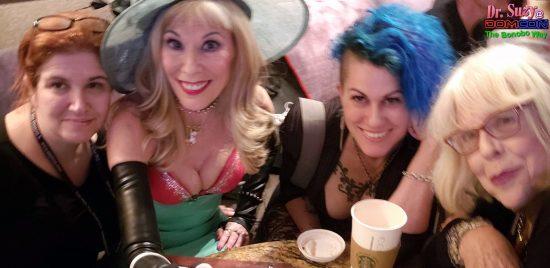 With Dominatrixes Against Donald Trump Director Mistress Tara, Goddess Soma & Mistress Sheree Rose. Photo: Seolfie