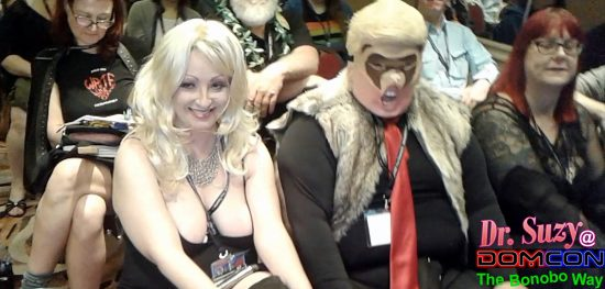 Look who's in my audience: Stormy Daniels & the Trumpus releasing his inner animal (a weasel).