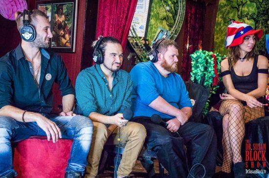 Jesse Prather & Tyler Daniels of Girls 'N' Guys Studios plus Comedian Anthony Davis & Phoenix Dawn. Photo: Jux Lii