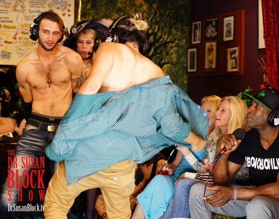 "Jesse and Tyler strip to Carmina Formosa's ""The Kinkster."" Photo: Capture It Photography"
