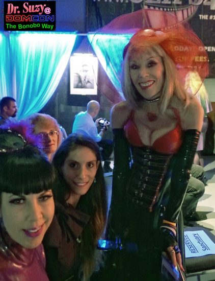 With DomCon Board Members Mistress Porcelain Midnight and Madame Margherite. Photo: Brian T