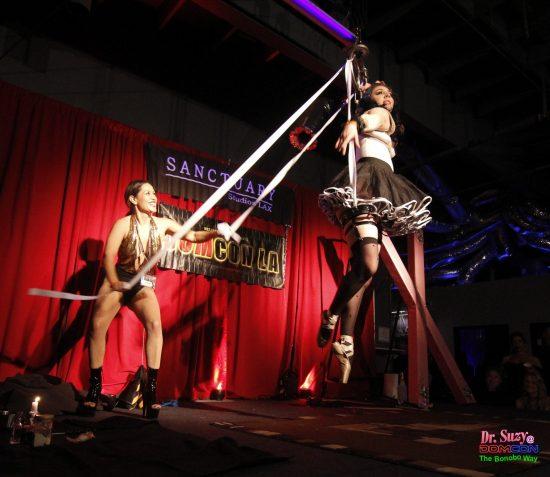 Joy Pulls the Strings of Her Ballerina. Photo: Abe Bonobo