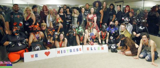 Sending LOVE to Mistress Ellen from The DomCon Pet Show. Photo: Abe Bonobo