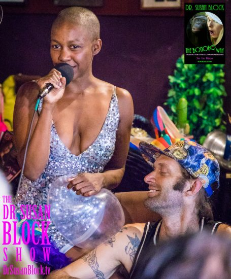 Speakeasy Stars: Daniele glitters as Be*Live chills. Photo: Jux Lii