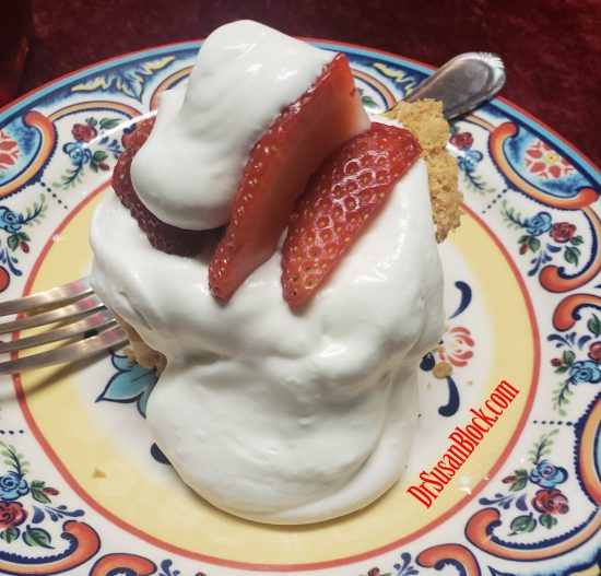 Clemmy's ridiculously delicious vegan strawberry shortcake.