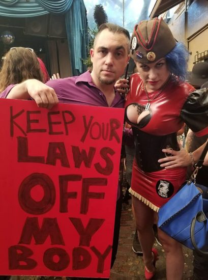Wry and Goddess Soma at the International Sex Workers Day Rally