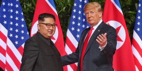 Bizarre and kitschy as it is, we support tRUMP & Kim's Bromantic Photo-Op for Peace.a